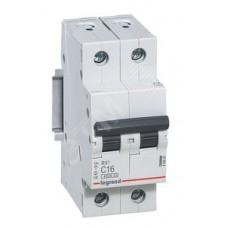 Автоматический выключатель Legrand TX3, 2P, 10A, хар-ка B, 6kA, 2M