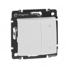 Valena - Светорегулятор кнопочный 400Вт может управляться дистанционно с помощью кнопки, белый