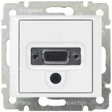 Valena - Розетка HD 15 + гнездо диам. 3,5 мм., белая
