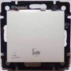 Valena - Выключатель без фиксации с символом звонка 10A, IP 44, белый