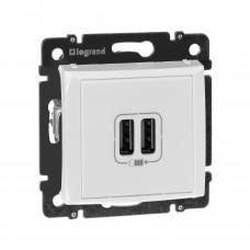 Valena - Розетка с 2-мя коннекторами USB, белая