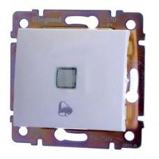 Valena - Кнопка с подсветкой и пиктограммой звонка, белый