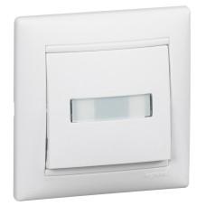 Valena - Кнопка с подсветкой и держателем этикетки, белая