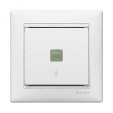 Valena - Кнопка с подсветкой и пиктограммой лампы, белая