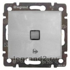 Valena - Кнопка с подсветкой и пиктограммой звонка 12В, белый