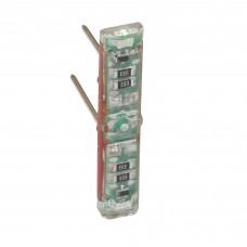 Светодиодная лампа индикации для переключателя на 2 направления 230В, 3мА, втычная