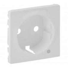 Valena Life - Лицевая панель розетки 2P+E c линзой для подсветки/индикации, белая