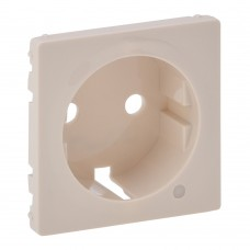Valena Life - Лицевая панель розетки 2P+E с линзой для подсветки/индикации, слоновая кость
