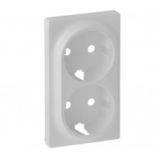Valena Life - Лицевая панель для двойной силовой розетки 2х2P+E, белая