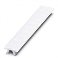 Планка Zack ZB 6 :UNBEDRUCKT для клемм 6,2mm, без надписей, 10 элементов, PA, белая