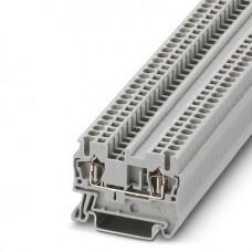 Клемма проходная ST 2,5 /5,2mm, пружинная, 2 присоед., 2,5(max 4)mm2, 24A, 800V, серая