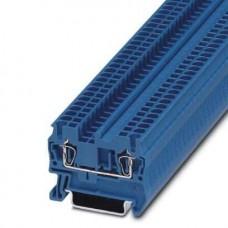 Клемма проходная ST 2,5 BU /5,2mm, пружинная, 2 присоед., 2,5(max 4)mm2, 24A, 800V, синяя