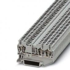 Клемма проходная ST 2,5-TWIN /5,2mm, пружинная, 3 присоед., 2,5(max 4)mm2, 24A, 800V, серая
