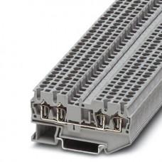 Клемма проходная ST 2,5-QUATTRO /5,2mm, пружинная, 4 присоед., 2,5(max 4)mm2, 24A, 800V, серая