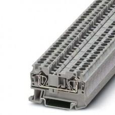 Клемма проходная ST 4 /6,2mm, пружинная, 2 присоед., 4(max 6)mm2, 32A, 800V, серая