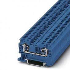 Клемма проходная ST 4 BU /6,2mm, пружинная, 2 присоед., 4(max 6)mm2, 32A, 800V, синяя