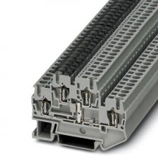 Клемма двухъярусная STTB 2,5-PV /5,2mm, пружинная, со связью потенциала, 4 присоед., 2,5(max 4)mm2, 22A, 500V, серая