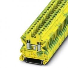 Клемма защитного проводника UT 4-PE /6,2mm, винтовая, 2 присоед., 4(max 6)mm2, желто-зеленая