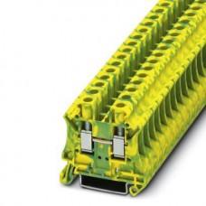 Клемма защитного проводника UT 6-PE /8,2mm, винтовая, 2 присоед., 6(max 10)mm2, желто-зеленая