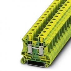 Клемма защитного проводника UT 10-PE /10,2mm, винтовая, 2 присоед., 10(max 16)mm2, желто-зеленая