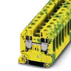 Клемма защитного проводника UT 16-PE /12,2mm, винтовая, 2 присоед., 16(max 25)mm2, желто-зеленая
