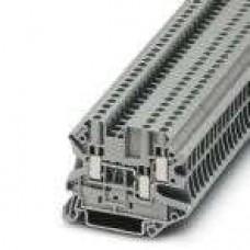 Клемма проходная UT 2,5-TWIN /5,2mm, винтовая, 3 присоед., 2,5(max 4)mm2, 24A, 500V, серая