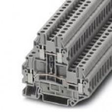 Клемма двухъярусная UTTB 2,5 /5,2mm, винтовая, 4 присоед., 2,5(max 4)mm2, 24A, 500V, серая