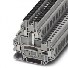 Клемма двухъярусная UTTB 2,5-PV /5,2mm, винтовая, со связью потенциала, 4 присоед., 2,5(max 4)mm2, 24A, 500V, серая