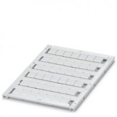 Маркировка для клеммных модулей UCT-TM 8 для клемм 8,2mm, 42 элемента, PC, белая