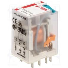 Реле R4N-2014-23-5110-WT, 4CO, 7A(230VAC), 110VAC, мех. инд., тест-кнопка