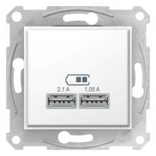 SEDNA USB РОЗЕТКА, 2,1А (2x1,05А), БЕЛЫЙ
