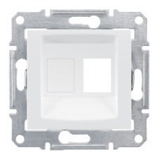 SEDNA АДАПТЕР для 1 коннектора RJ45, AMP MOLEX KELINE, кат. 5e, 6, UTP, БЕЛЫЙ
